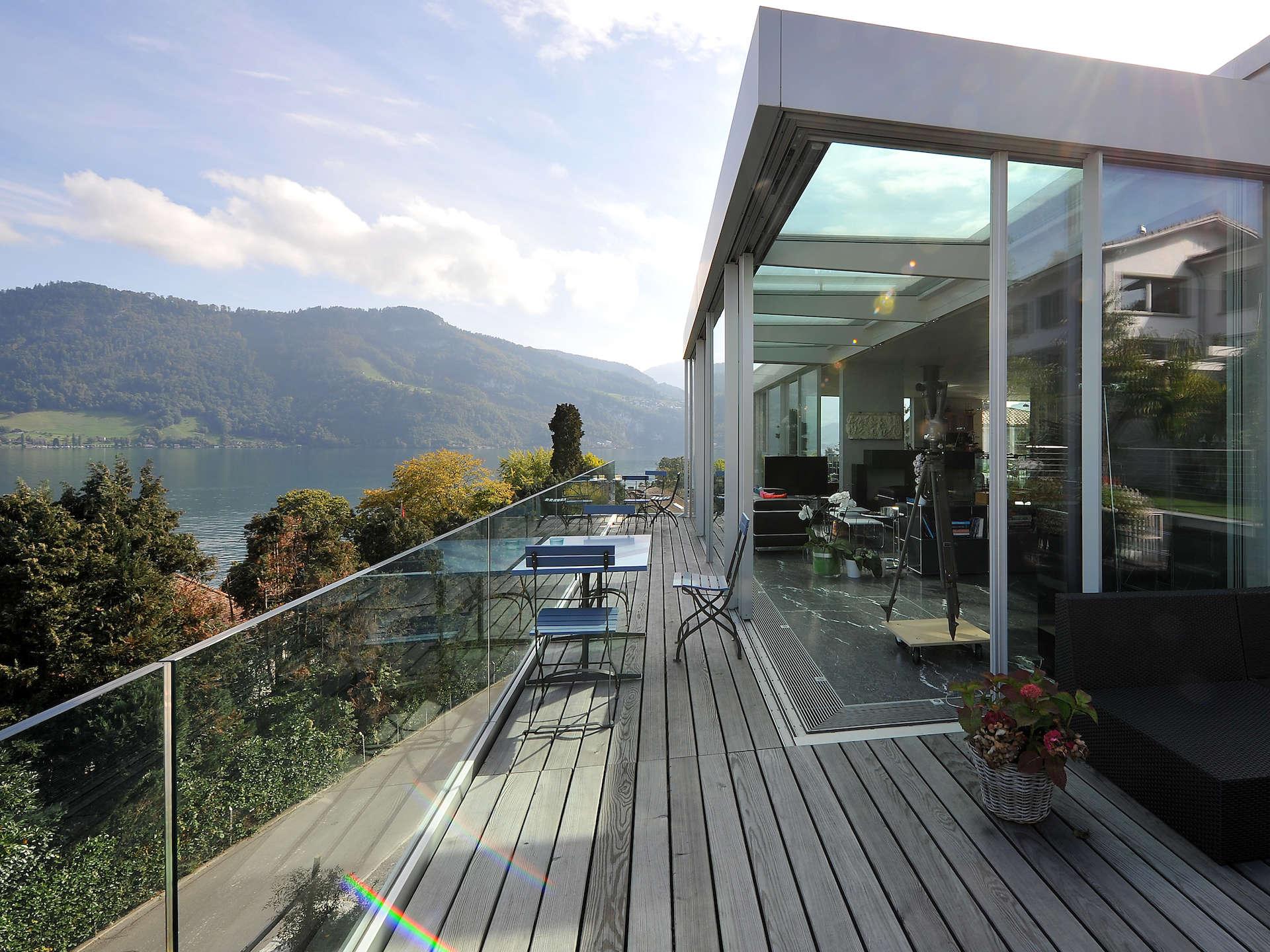 Swissfineline g ganzglasgel nder glasbr stung glasreling absturzsicherheit swissfineline ag - Bodentiefe schiebefenster ...